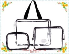 Three-Piece PVC Bag Travel Set travel cosmetic bag travel set for make up