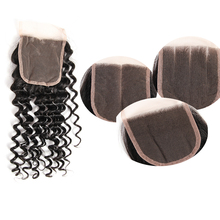 New Arrival Top Grade Brazilian Human Hair queens hair products deep wave closure
