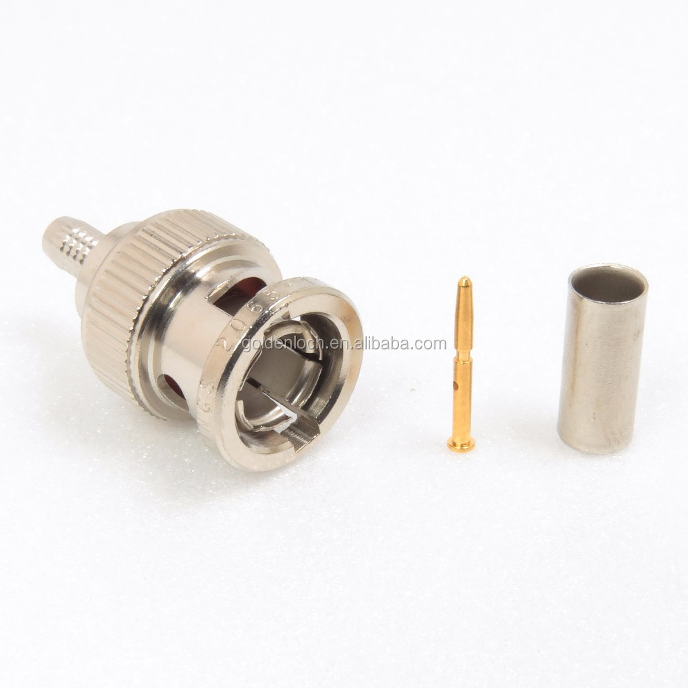 3G SDI 75 Ohm BNC Connector Crimp Plug for Belden 1855A