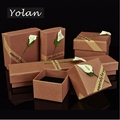 brown paper box paper jewelry box set manufacturers Yiwu