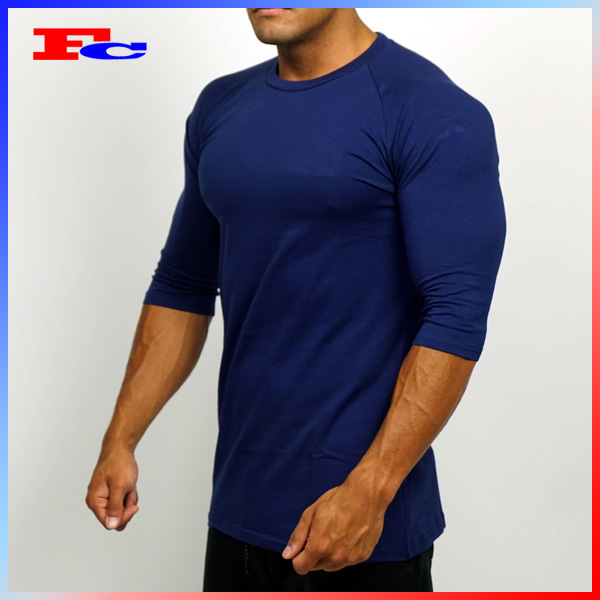 Scoop Top Bottom Mens Fitness Wear Cotton Spandex Sports Wear Lightweight Gym T Shirts
