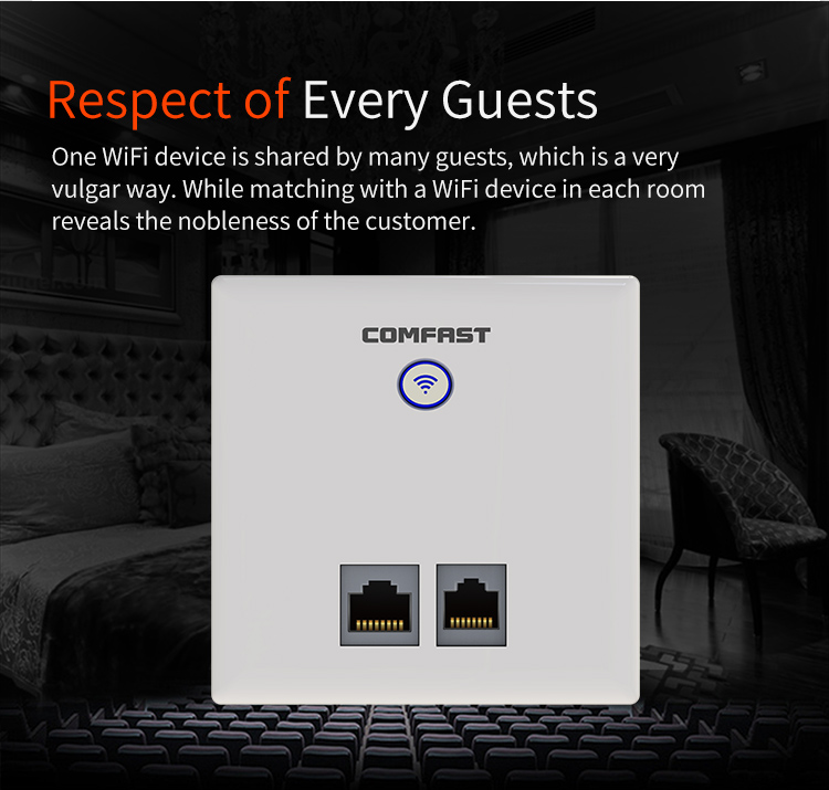 COMFAST CF-E535N Long Range 2.4Ghz Wifi Transmitter In wall AP Wireless 300m Access Points