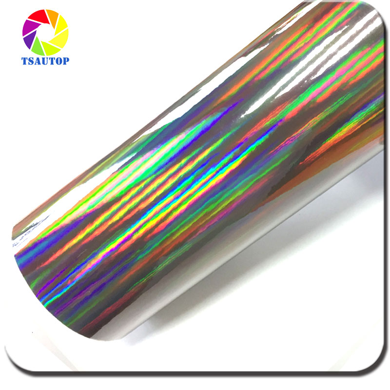 TS Rohs certificated 1.42*20m vinyl car wrapping film laser chrome rainbow vinyl