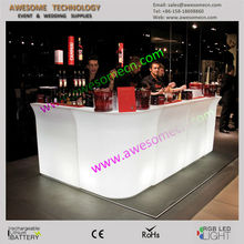 glow led counter and back bar indoor bar sets