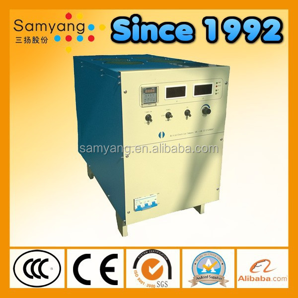Panel control switching mode lead plating power supply with timer adjustabl output current and voltage