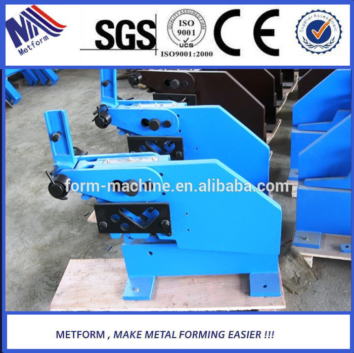 Site working used metal working machine,hand shear on Flat Iron,Square Bars punching and cutting
