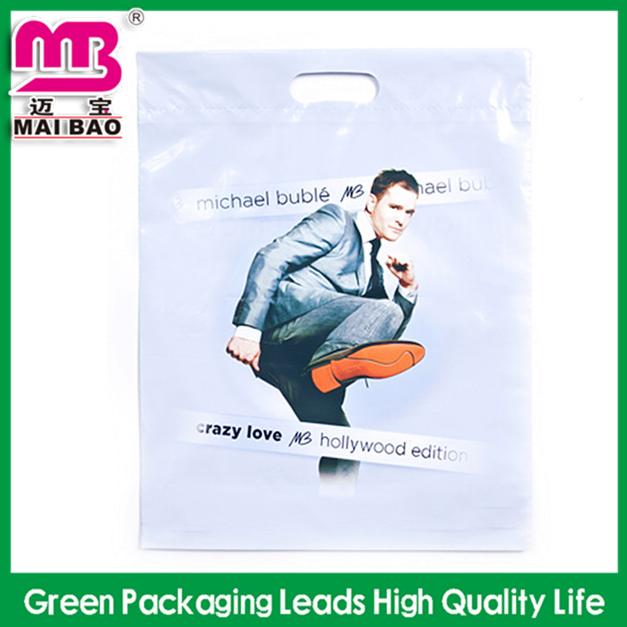 Factory Price Durable and Reusable Custom Printed Plastic Tote Bags with Flexiloop Handles