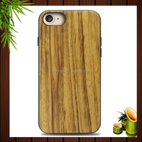 2016 mobile accessories of pu leather wood tpu shockproof phone case for Iphone 7 4.7 inch TPU case, for iPhone 7 case wood