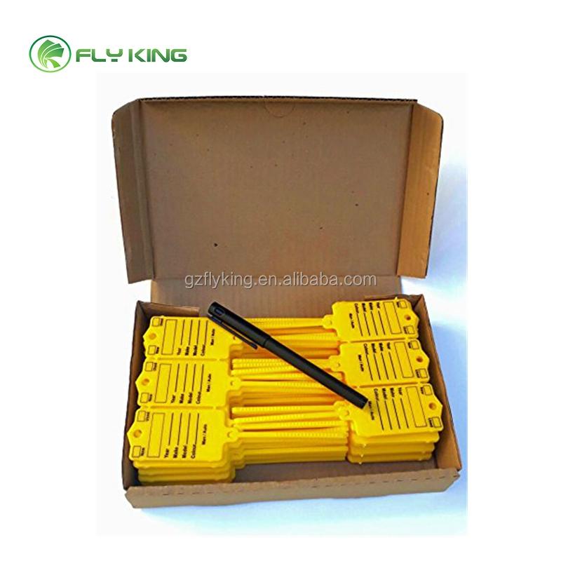 Plastic Key Tag  YELLOW