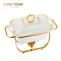 L4145AN 2.8L Food Warmer Gold Lip Single Bowl Indian Chafing Dish