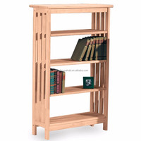 Cheap price large wood modern book shelf 3 layers library bookcase for sale
