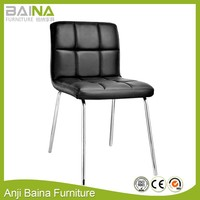 Modern designer cheap pu leather metal wholesale dining room chair made in china