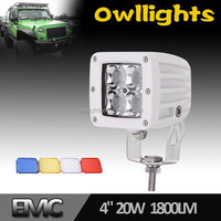 High Power ! 20W Offroad LED Work Light Bar Off Road LED Work Lamps Worklight Beam 4WD Cars SUV ATV TRUCK Farming Light
