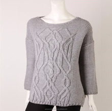ladies high quality thick winter sweater 70% acrylic 20% alpaca 10% wool knit pullover women