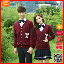 Wholesale V neck japanese school uniform cardigans for high school students