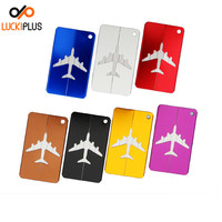 Luckiplus Colorful Aluminum Air Plane Pattern Luggage Tag ID Tag Name Card Holder