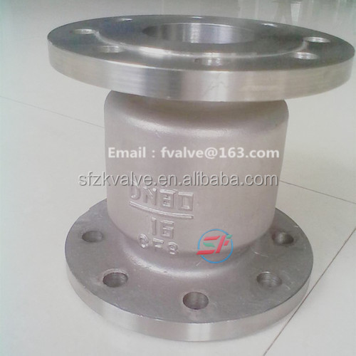 Shengfeng brand Cast Steel Vertical Piston Lift Check Valve