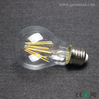 Trade Assurance glass cover edison lamp chandelier led filament bulb dimmable 12w