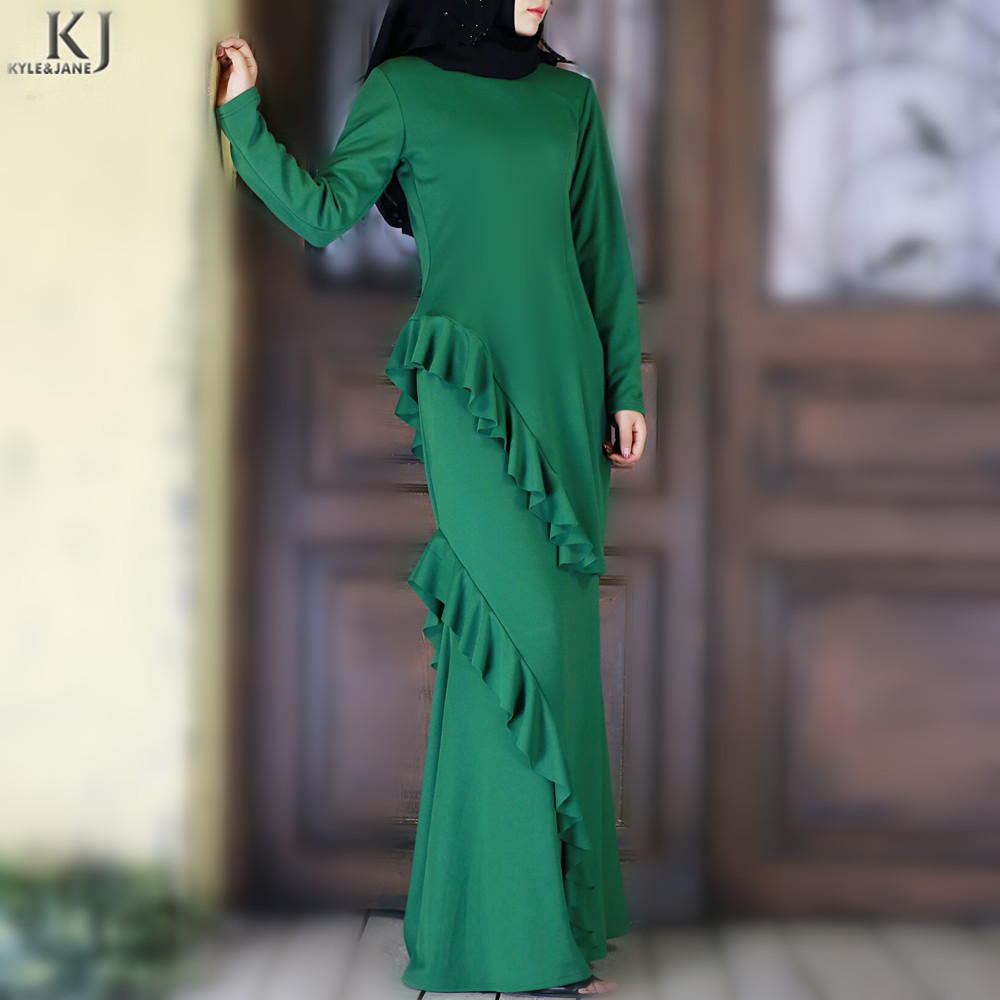 2018 latest designs Muslim two piece top ans skirt wholesale women tunic tops dresses girls fashion baju kurung