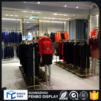 Top quality customized clothes shop counters, clothing store display design furniture for shop decoration