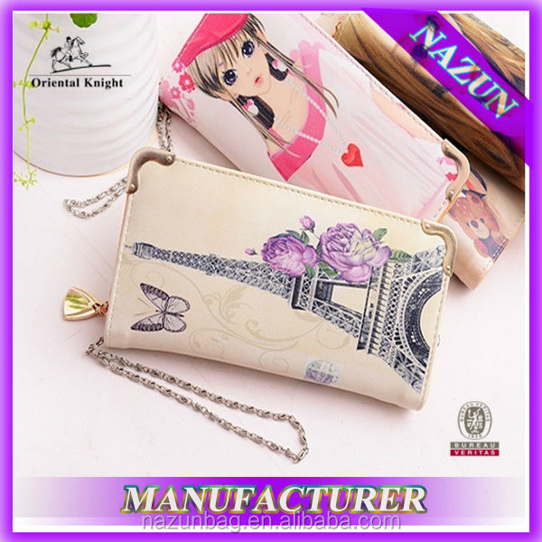 High Quality Latest Fashion Brand Wallet For Lady China Supplier