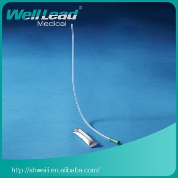 Hydrophilic coated nelaton catheter