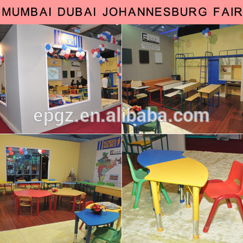 For university class room foldable chair with desk China school furniture
