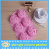 6 Cavities Flower Rose Silicone Cake Baking Mold Cake Pan