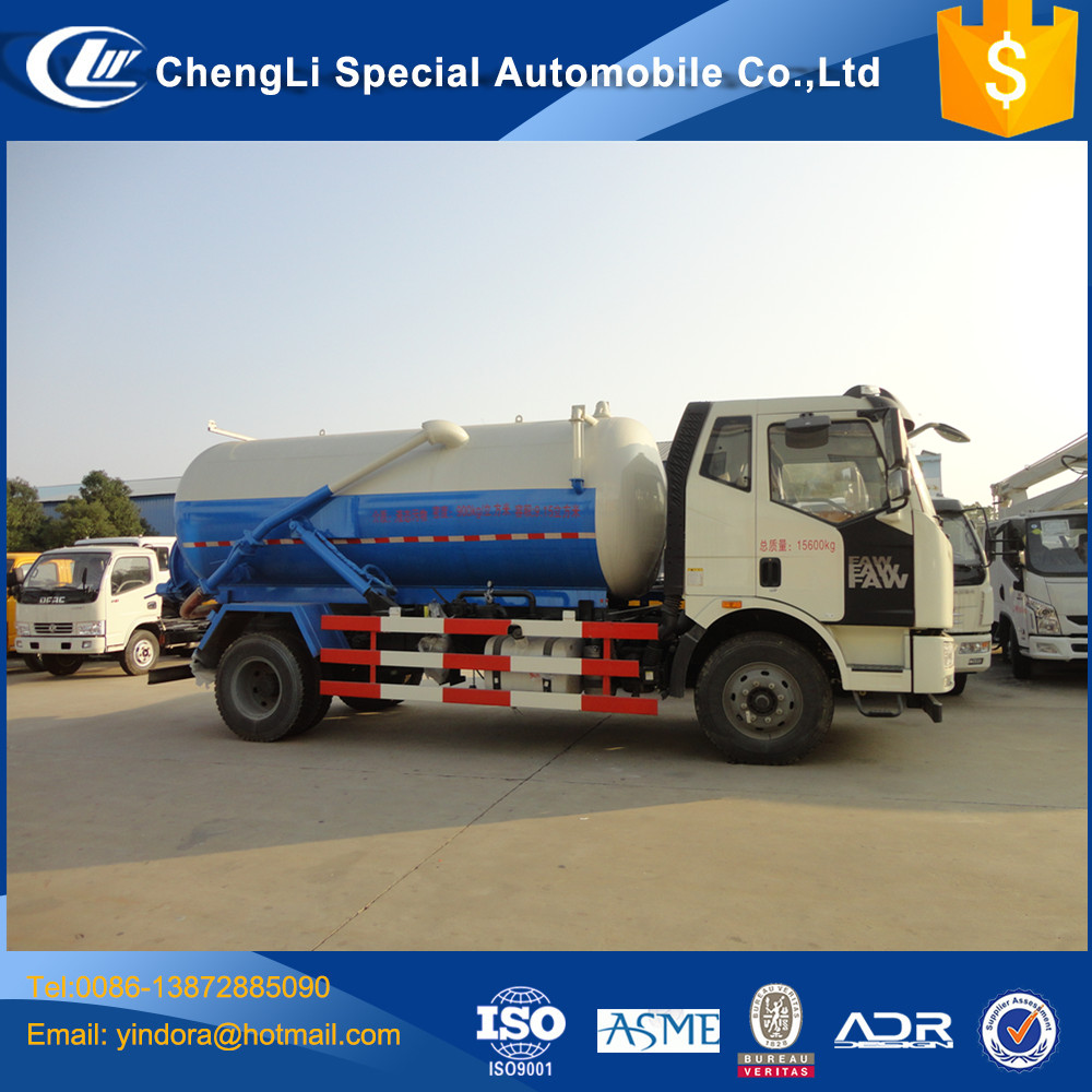 FAW 4*2 10M3 12m3 13m3 14m3 Euro V cesspool drain cleaning truck for sale