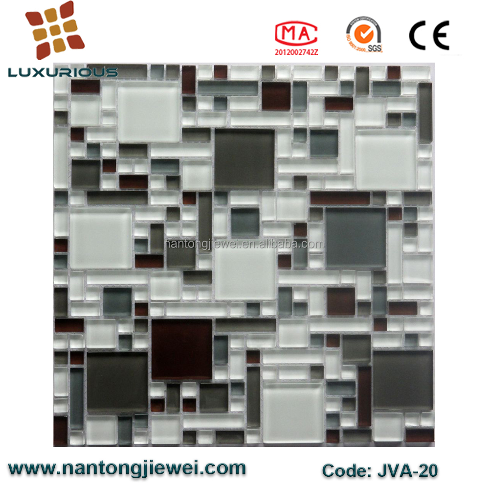 New Style Mosaic Designs Cheap Crystal Glass Mosaic Tile Backsplash Kitchen and Bedroom Wall Decoration