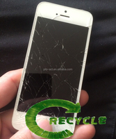 High price buying and recycle mobile phone lcd broken cracked touch screen repair for iphone5/5s/5c