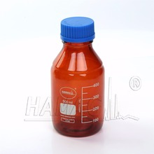 500ml amber Reagent Bottle mobile phase glass bottle for solvent