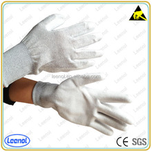 CE Seamless Liner PU Coated Gloves Carbon Fiber Safety Equipment