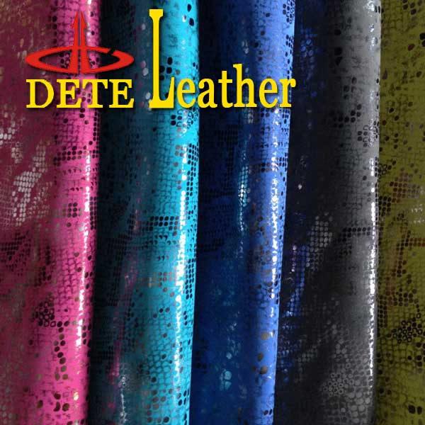 PU leather brown retro style upholstery leather camical fabric