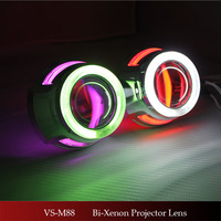 Hotest ! Auto Hid Bi-xenon Projector Lens With Led Angel Eyes For Headlight