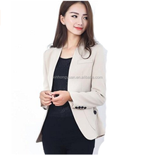 custom fashion business woman blazers/suits Ladies Formal Blazers Suits