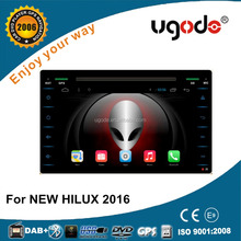 2016 android touch screen dvd player for toyota hilux gps navigation