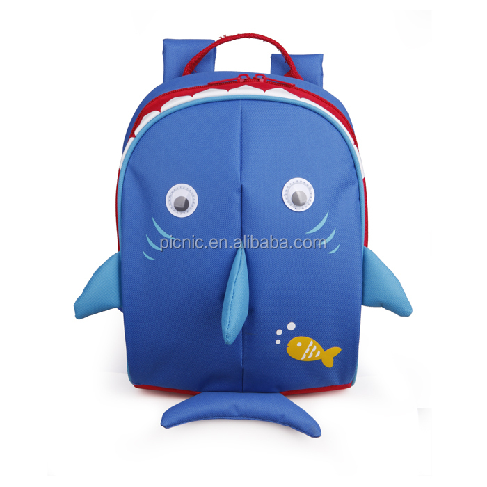 Shark Shape Backpack Lunch Bag With Kids Bag