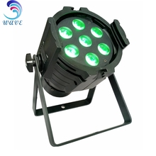 HOT 7 pcs 4 in 1 RGBW(A) 10w led disco led par can 7x10w mini par light rgbw led par 64