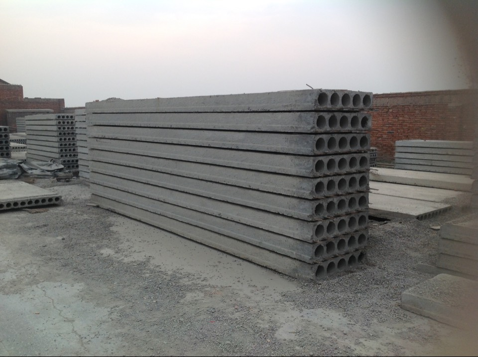 Pretension concrete machinery floor slabs