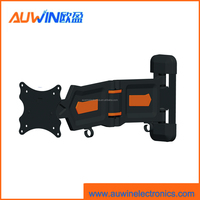 Articulating wall mount for TV LCD bracket with 180 degree swivel and plastic cover