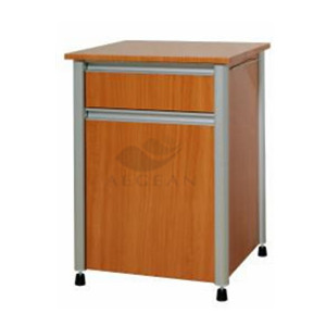 China cheap hospital medicine cabinet with four securing wheels