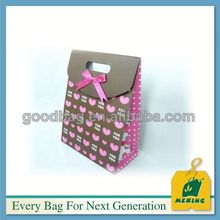 4 sides colorful bag red folded printed paper bag