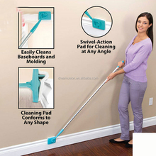 Baseboard Buddy Cleaning Mop Simply Walk &Glide Extendable Microfiber Dust Brush