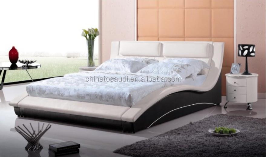 Lastest design king size leather bed buy super king size bed latest bed designs double bed - Designs of bed back ...