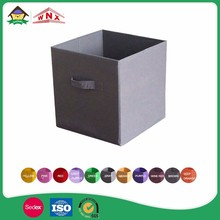 non woven cloth cube collapsible fabrics basket foldable storage bin