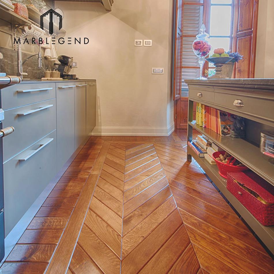 Bedroom Decorative Design Waterproof Laminate Parquet Herringbone Wood Flooring
