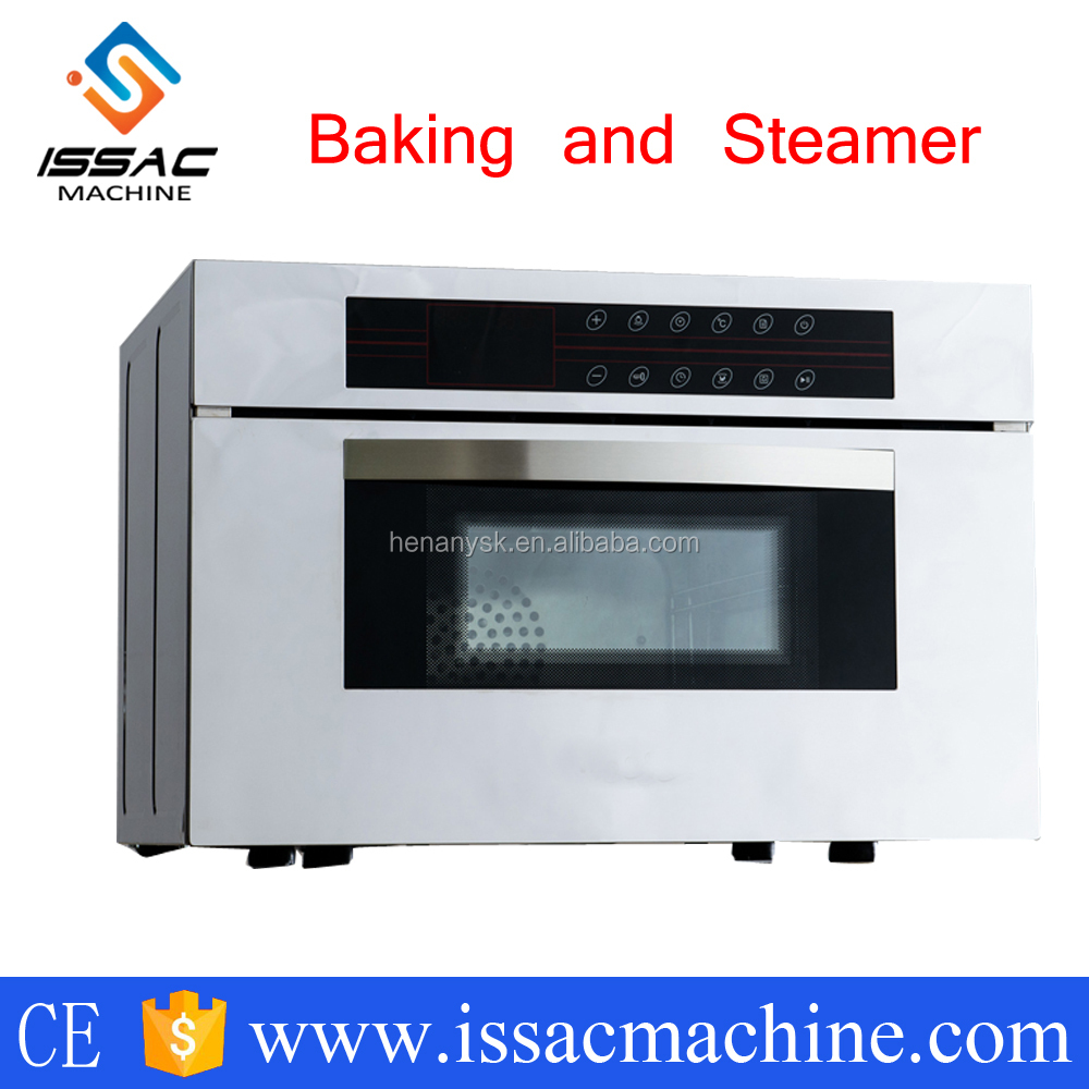 IS-HCO-2A Stainless steel multifunction bakery electric Baking oven and steamer oven 2/3 pans microcomputer type