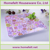 2015 New Design colorful dinner melamine tray