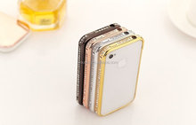 DIAMOND CRYSTAL BLING METAL ALUMINUM BUMPER CASE COVER FOR IPHONE 4G 4S 5G 5S